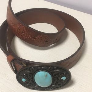 Other - Western Belt with turquoise stone trim on buckle